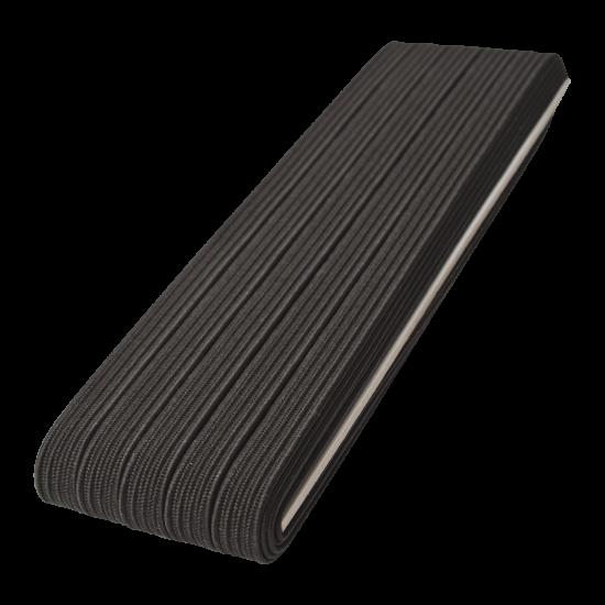 Siyah/ Beyaz Yassı Lastik 10 Metre