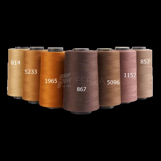 Dikiş İplikleri Kahverengi Serisi 5000MT