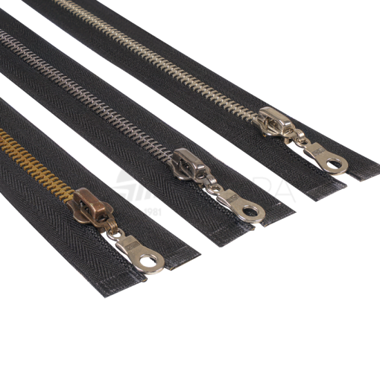 Metal Mont Fermuarı Tip 8 75 cm Siyah