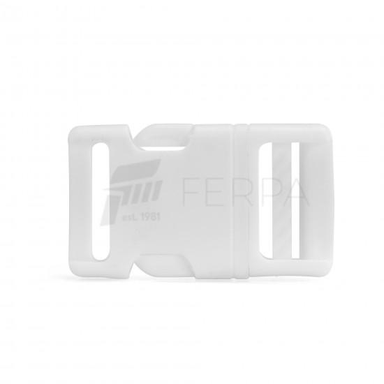 Plastik Oval Kilit Beyaz (28MM)